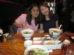 Gel, Kanu, and bowls of ramen