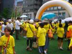 A Sea of Yellow T-Shirts
