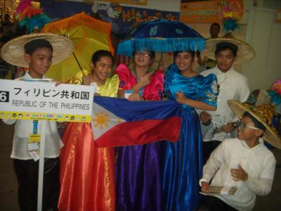 Philippine JAs in their colorful costumes!