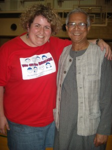 Erin and Professor Yunus